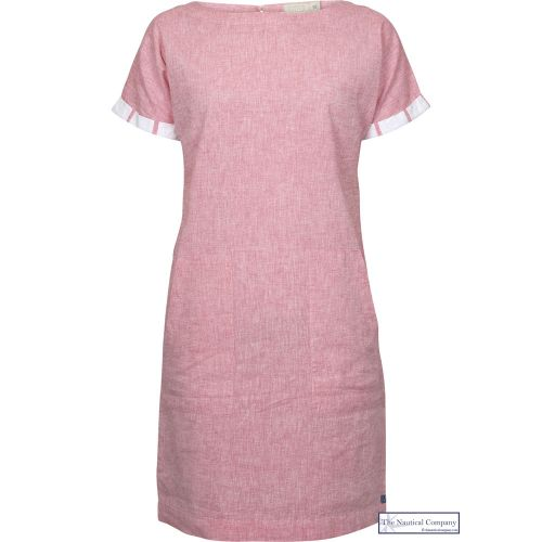 Women's Summer Linen Dress, Coral