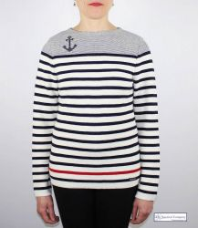 Women's Anchor Striped Jumper (only UK 12 left)