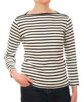 Ladies' Fitted Soft Jersey Striped Breton Top