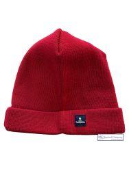 Fisherman Beanie Wool Hat, Red