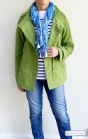 Ladies' Funnel Neck Jacket, Grass Green