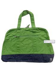 Large Canvas Beach Bag, Grass Green