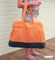 Large Zip Beach Bag, Orange