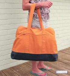Large Zip Beach Bag, Orange