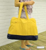 Large Zip Beach Bag, Yellow