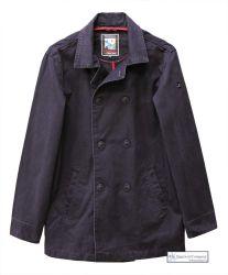 Men's Cotton Peacoat, Navy Blue