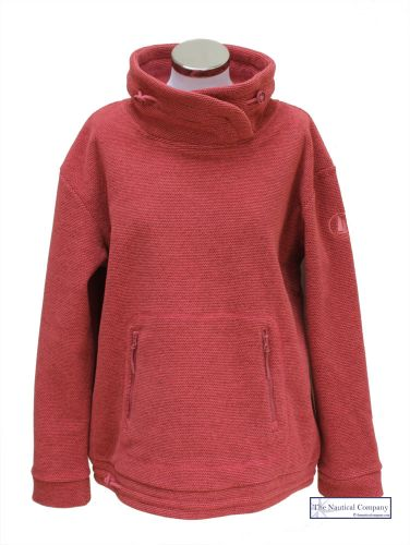 Women's Lightweight Fleece Sweatshirt, Vintage Coral Pink