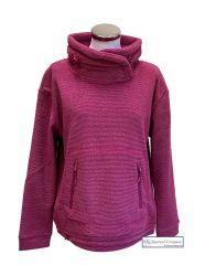 Women's Lightweight Fleece Sweatshirt, Fuchsia Pink