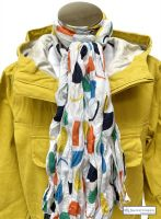 Women's Cotton Scarf, White, Menhirs Print
