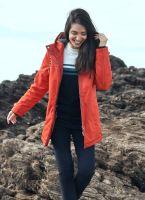 Women's Winter Waterproof Padded Jacket, Orange Brick