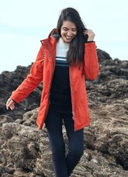 Women's Winter Waterproof Padded Jacket, Orange Brick