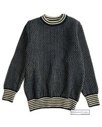 Nordic Crew Neck Sweater, Navy/Cream