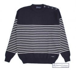 Men's Breton Striped Wool Jumper