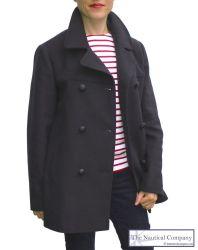 Women's Breton Pea Coat Jacket (only size UK16 - FR44 - US12 left)