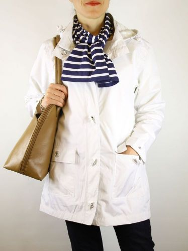 Ladies' Waterproof Parka, White, Armor Lux (only UK 18 - FR 46 - US 14 left)