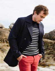 Men's Wool Navy Peacoat/Reefer Jacket
