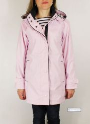 Women's Lined Raincoat with Hood, Pink
