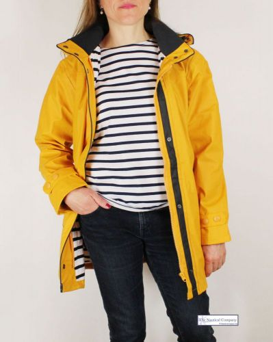 Women's Lined Raincoat with Hood, Yellow