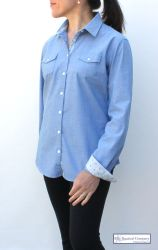 Women's Classic Nautical Shirt with Polka Dots
