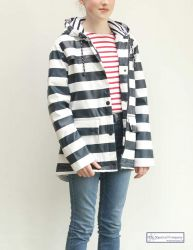 Women's Striped Raincoat