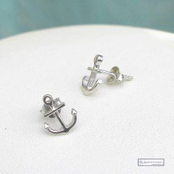 Anchor Silver earrings