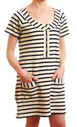 Beach Striped Breton Tunic Top (Cover-up Dress)