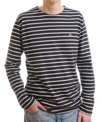 "Men's Breton T-Shirt (navy/white) (only Chest to fit 36"" left)"