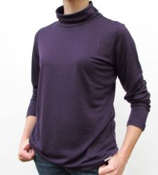Women's Purple Roll Neck top (only UK 18/US 14 left)