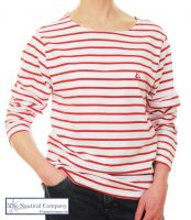 Women's Red & White Striped Breton T-Shirt