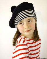 Nautical French Navy Blue Beret Hat