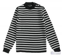 Striped Breton Sweater, Navy Blue/Cream, for Men & Women