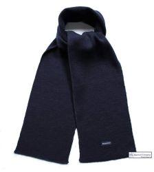 Navy Blue Wool Rich Scarf
