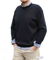 Crew Neck Yachting Jumper, Navy Blue (only MEDIUM left)