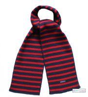 Navy Blue/Red Stripe Scarf