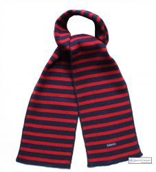 Navy Blue/Red Stripe Scarf