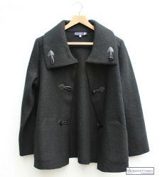 Women's Black Duffle Coat Style Jacket