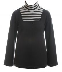 Womens' Extra Fine Merino Wool Polo Roll Neck Sweater