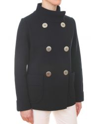 Women's Double Breasted Nautical Peacoat Style Knit Jacket (only UK16 - FR44 - US12 left)