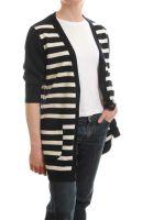 Women's Striped Long Cardigan