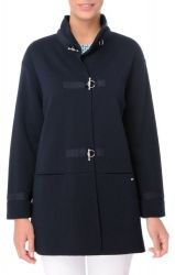 Women's Long French Navy Blue Knit Jacket (only UK12 - FR40 - US8 left)