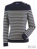 Ladies' Striped Breton Jumper, Navy Blue/Cream by Saint James