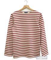 Saint James Heavyweight Breton Shirt, Cream/Red