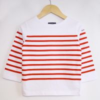 Children's Sailor Top, White/Red