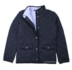 Women's Quilted Jacket, Navy Blue with fleece lining