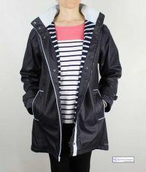 Women's Lined Raincoat, Navy Blue