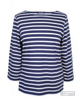 Saint James Galathee Striped Tee-Shirt, Navy/White