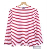 Saint James White/Red Striped Breton Shirt (only XS & S left)