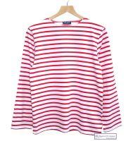 Saint James White/Red Striped Breton Shirt