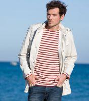 St James Cream/Red Striped Breton Shirt