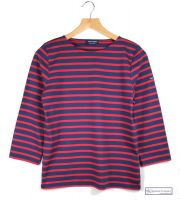 Saint James Striped Top, Navy/Red